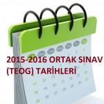 2015-2016 TEOG Sınav Tarihleri