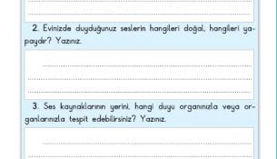 3. Sınıf Fen Bilimleri 91. Sayfa Cevapları