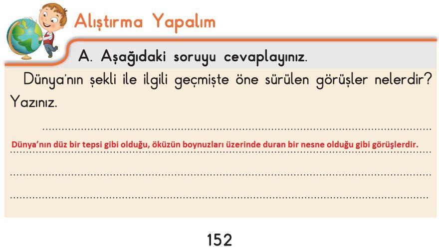 3. Sınıf Fen Bilimleri İpekyolu Alıştırma Yapalım 152-A