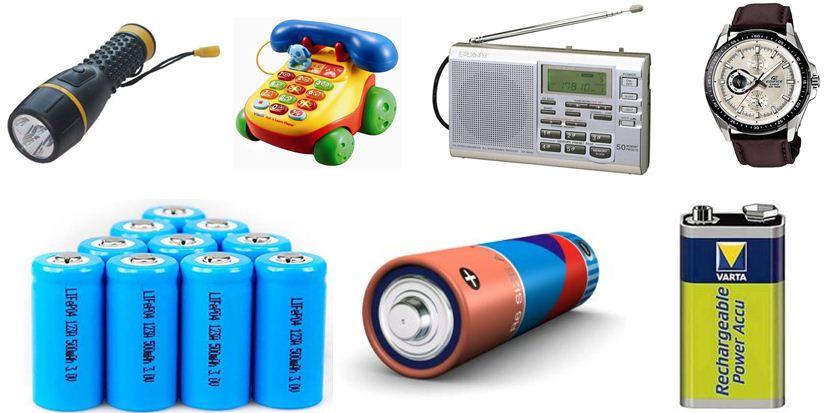 Piile Çalışan Elektrikli Araçlar-Pil Çeşitleri