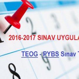 2016-2017 TEOG Sınav Tarihleri