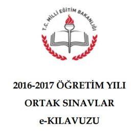 2016-2017 Ortak Sınavlar (TEOG) E-Kılavuzu Yayımlandı